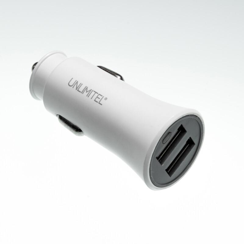 Caricatore da auto Unlimitel 3.1A due ingressi USB