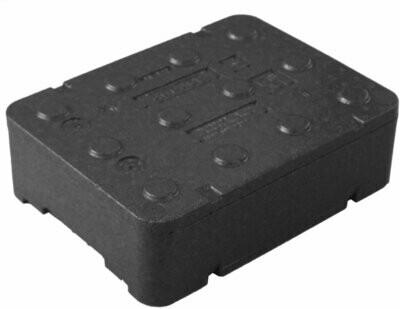 Czarne piocelan pudełko do leków FB130 10 litrów