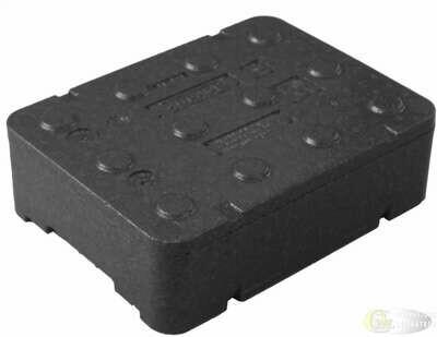 Czarne piocelan pudełko termoizolacyjne FB160 12,94 litra