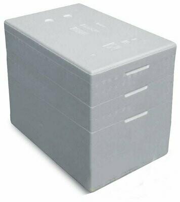 Termobox pudełko termoizolacyjne 68 litrów styropianowe białe