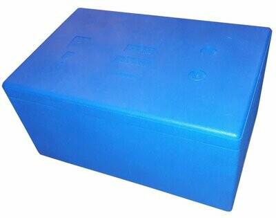 Błekitny 32 litry Termobox 58x38x29cm niebieski
