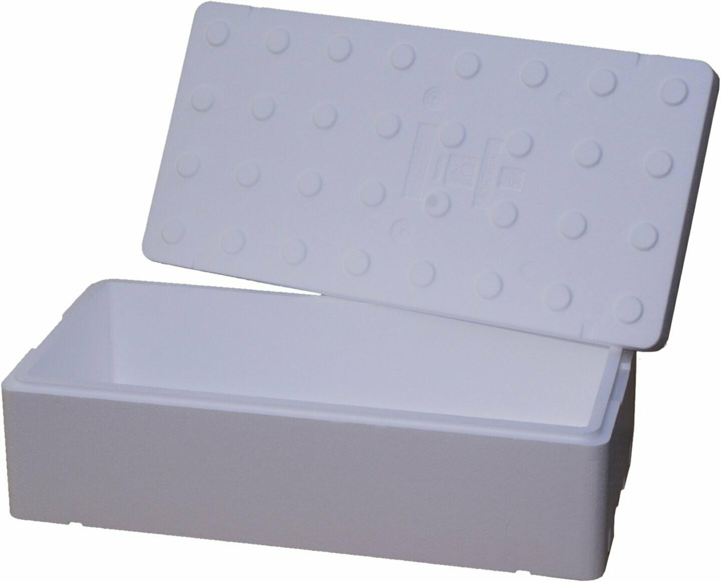 FB2500 pudełko styropianowe 80x40x32 63 litrów biały