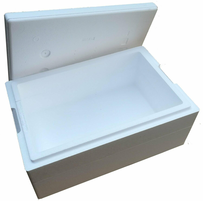 TB90 pudełko termoizolacyjne 25,5 litra styropianowe białe z ringiem