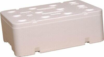 FB160 opakowanie styropianowe do wysyłki pudełko białe 12,94 Litra