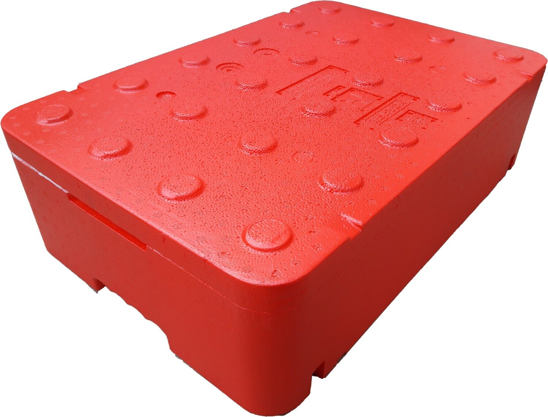 FB120 pudełko trmoizolacyjne czerwone 60x40x17
