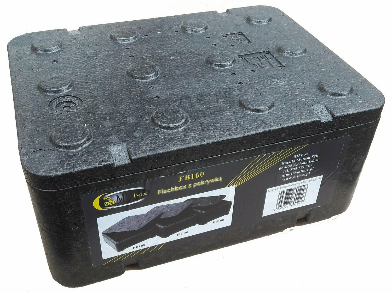 Czarne piocelan pudełko termoizolacyjne FB160 12,94l 5903771801218