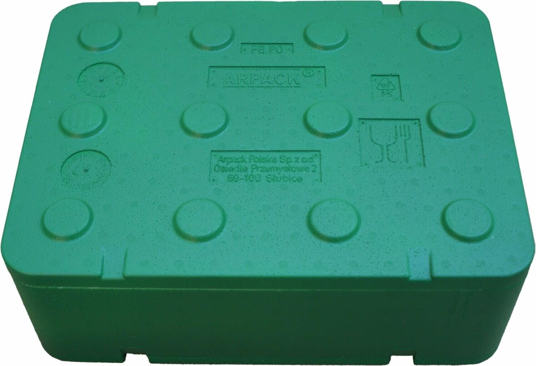 Opakowanie styropianowe fischbox 40*30*14 10L FB130 zielone