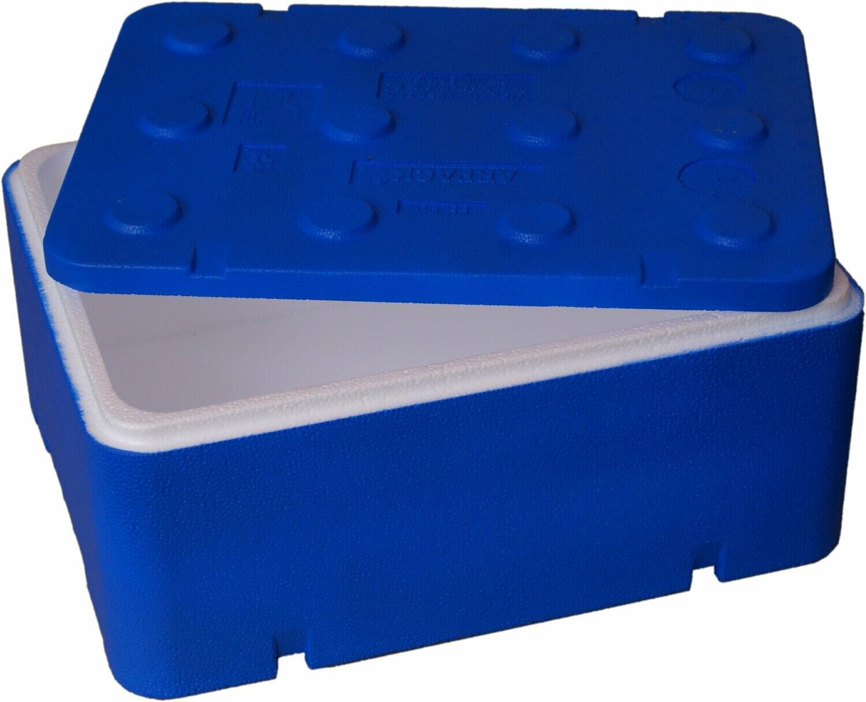 Opakowanie styropianowe fischbox 40*30*14 10L FB130 niebieskie
