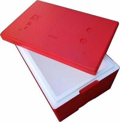 Czerwony 32 litry Termobox 58x38x29cm pudełko termoizolacyjne