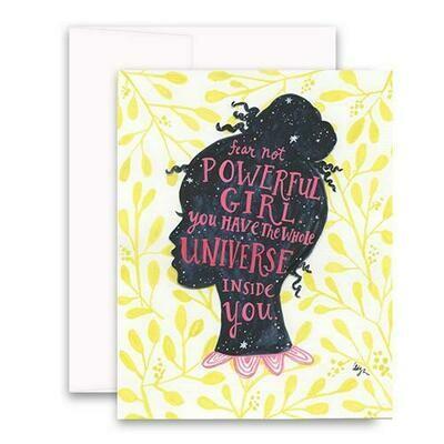 Fear Not Powerful Girl Card