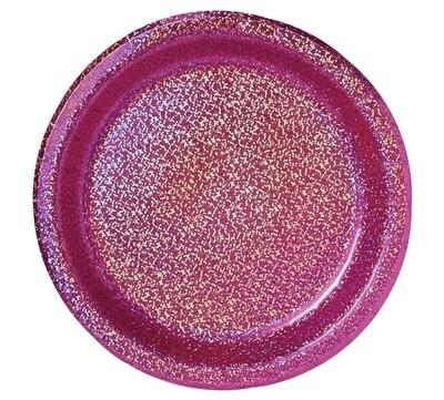Prismatic Bright Pink Plates 8ct.