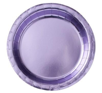Metallic Lavender Plates 8ct.