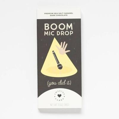 Boom Mic Drop - Chocolate Bar and Card