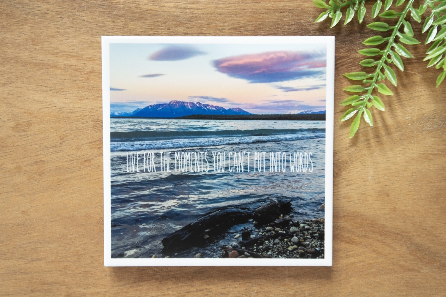 Live For The Moments You Can't Put Into Words-Nature Photo Coaster