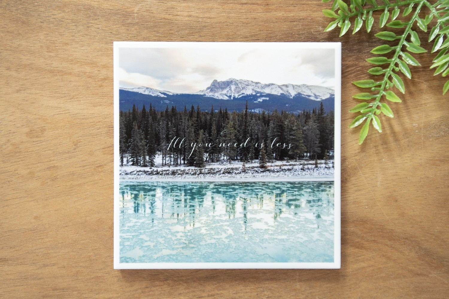 All You Need Is Less-Nature Photo Coaster