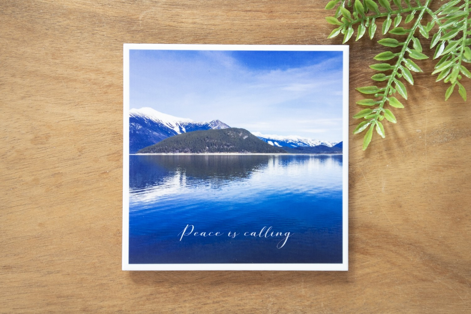 Peace is Calling-Nature Photo Coaster