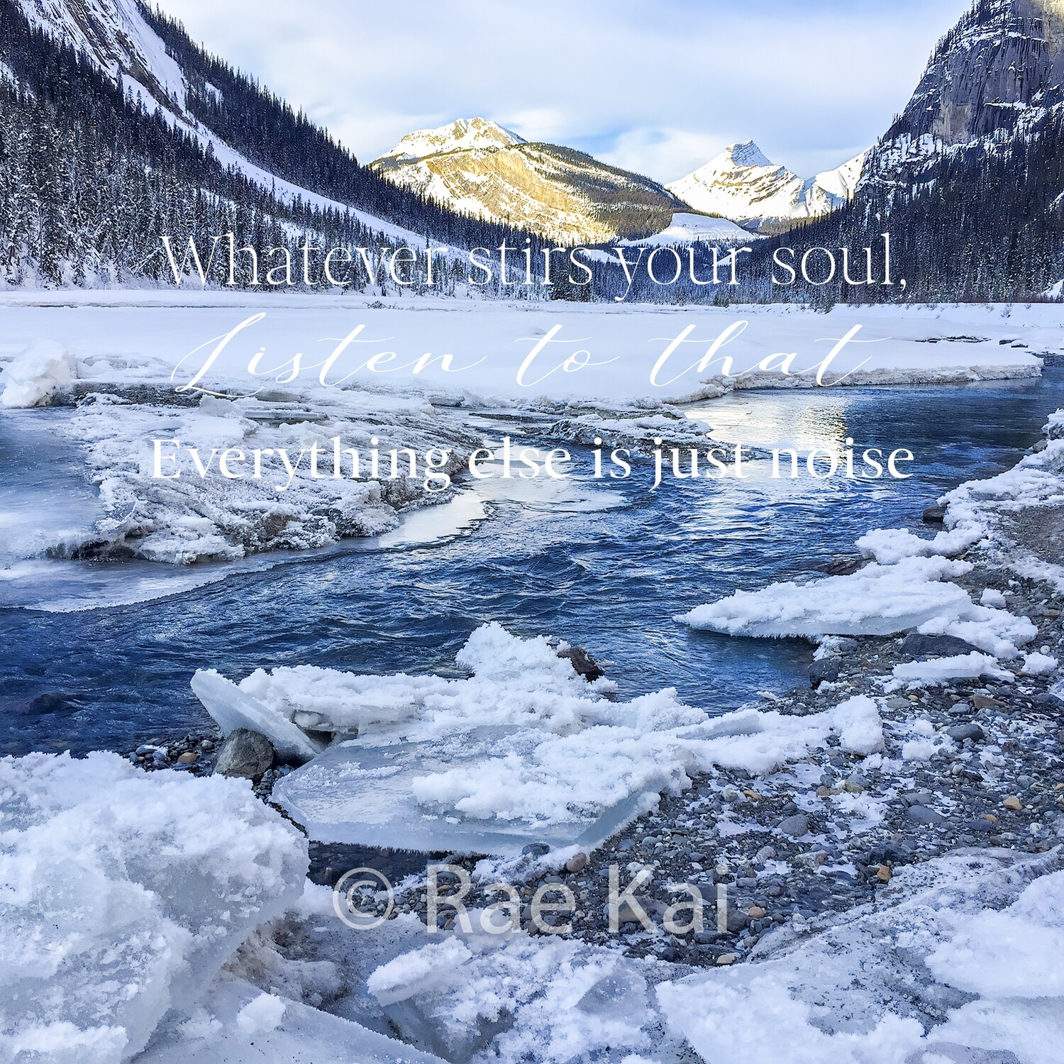 Whatever Stirs your Soul-Inspirational Square Photo