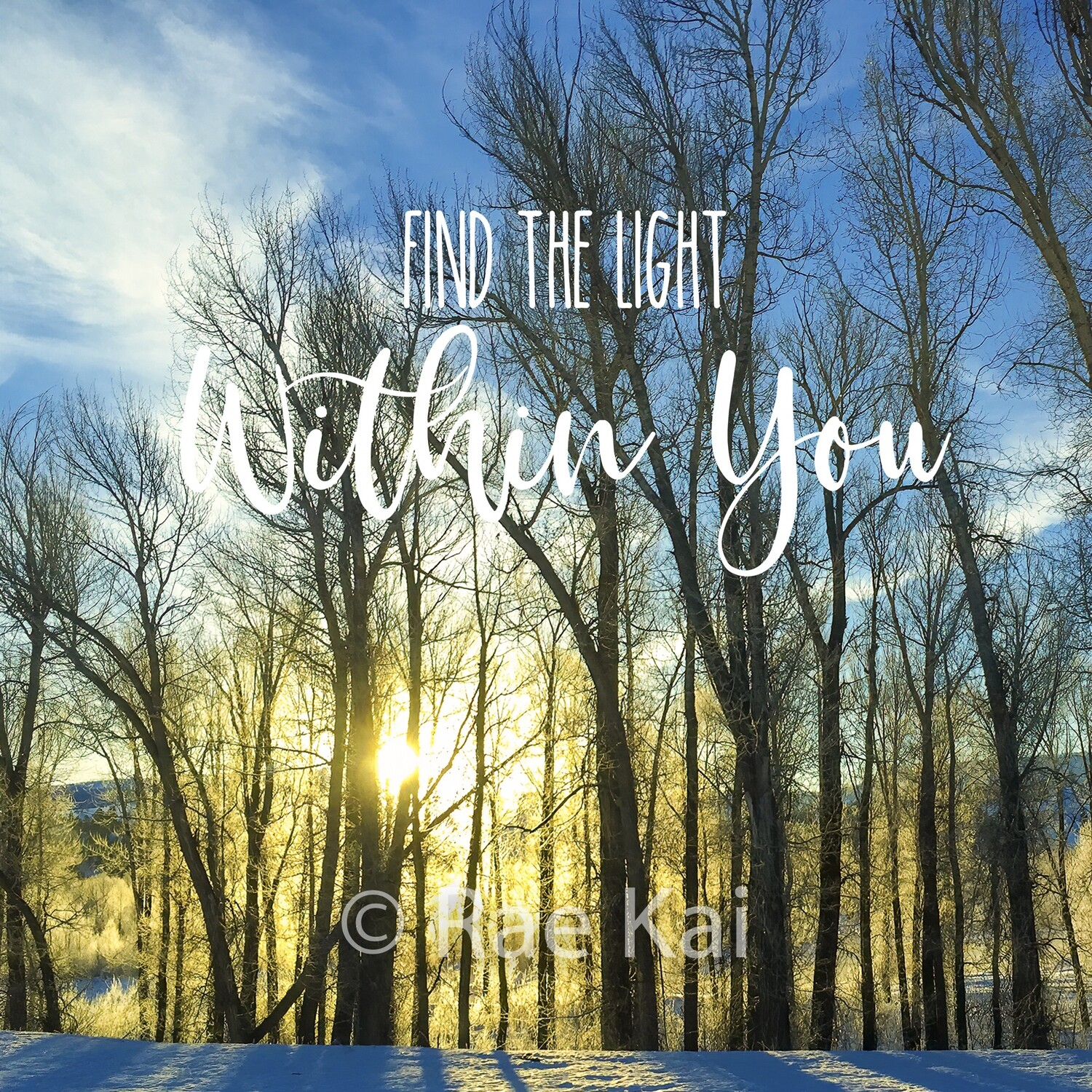 Find The Light Within You-Inspirational Square Photo