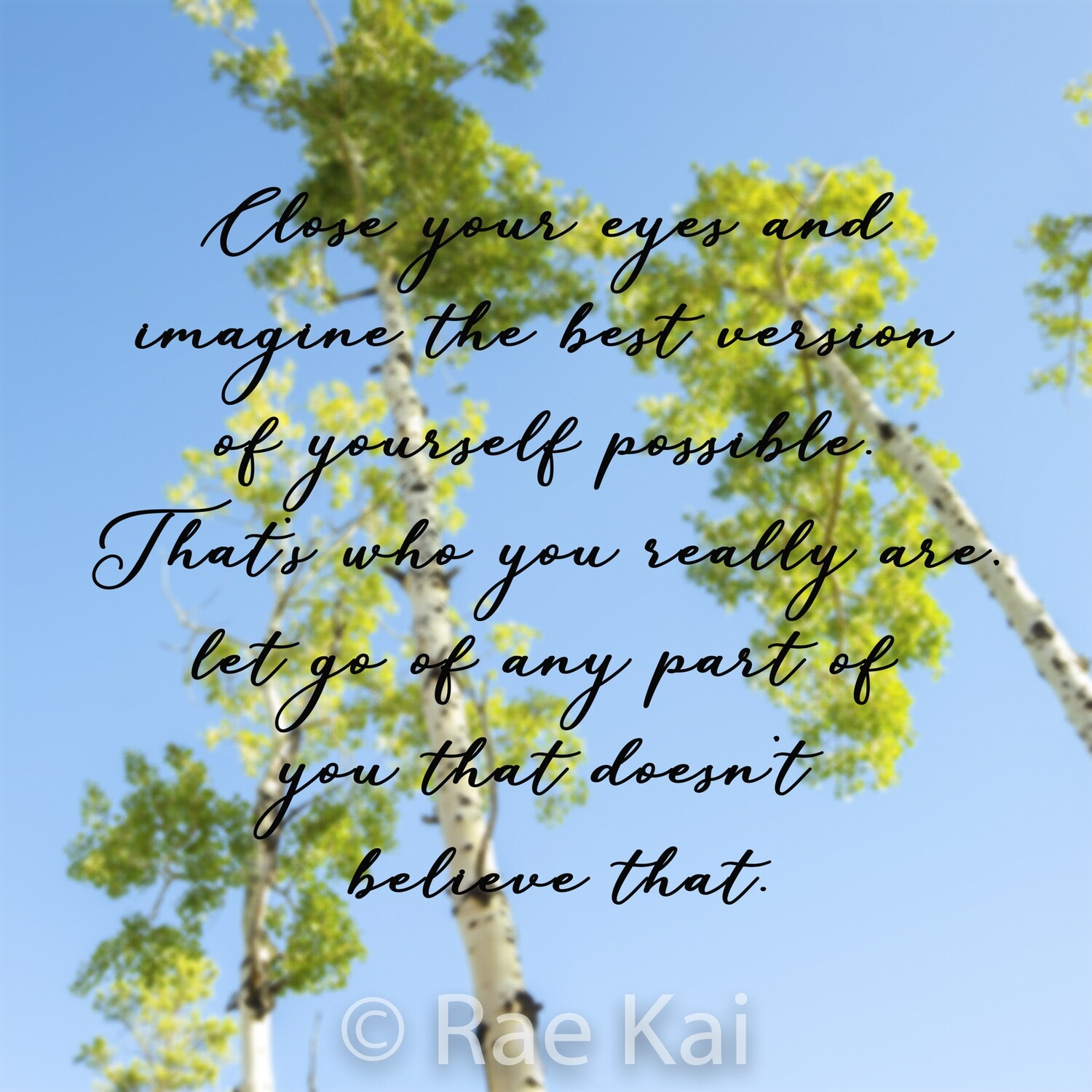 Close Your Eyes and Imagine-Inspirational Square Photo