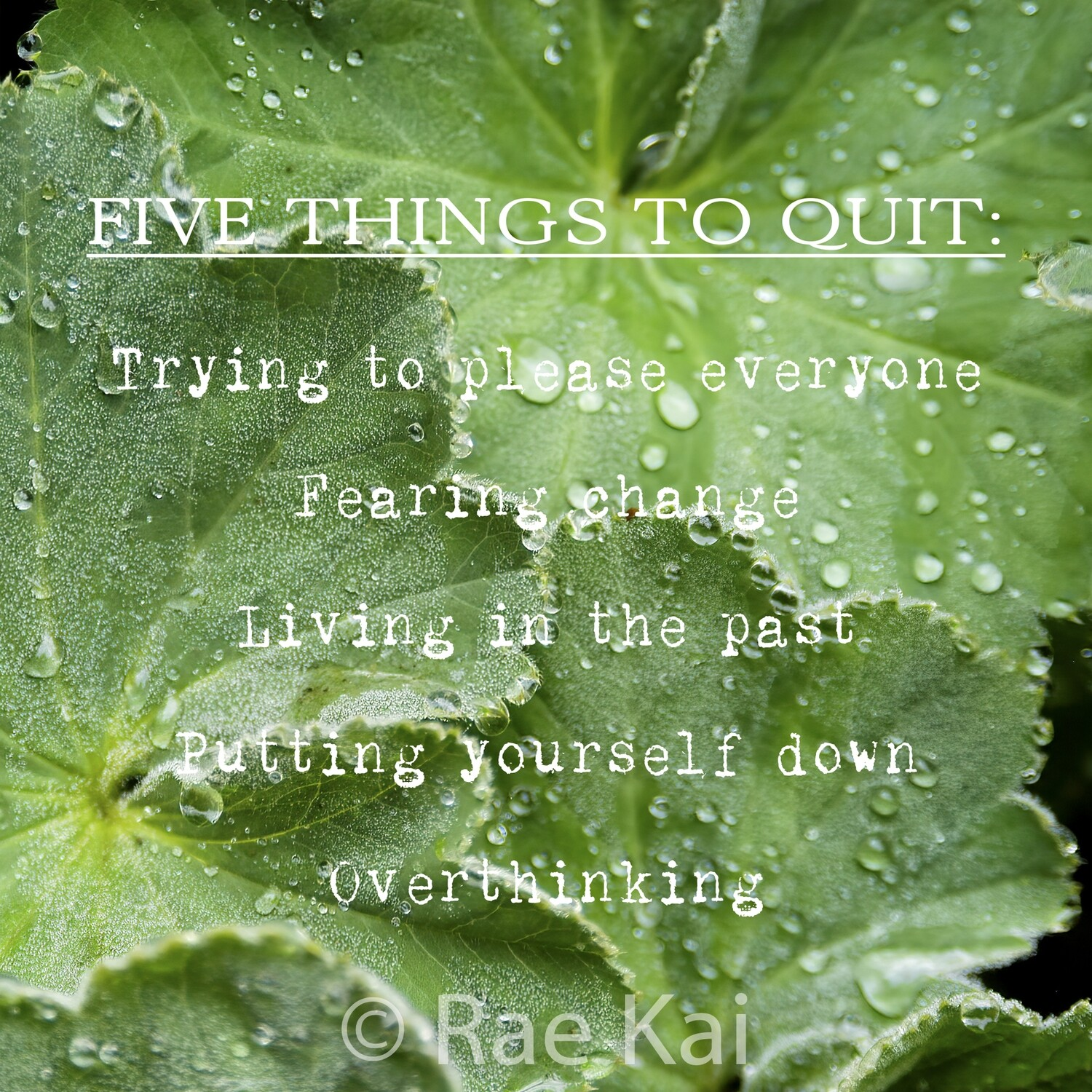 Five Things to Quit-Inspirational Square Photo