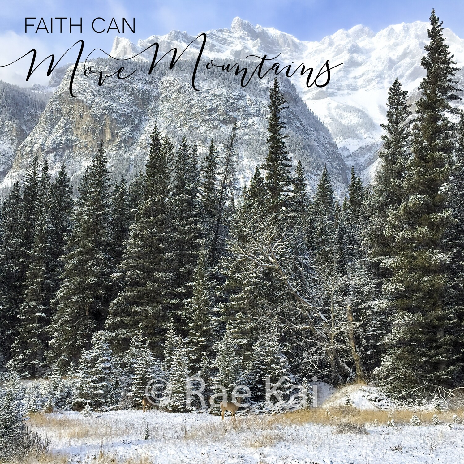 Faith Can Move Mountains-Inspirational Square Photo