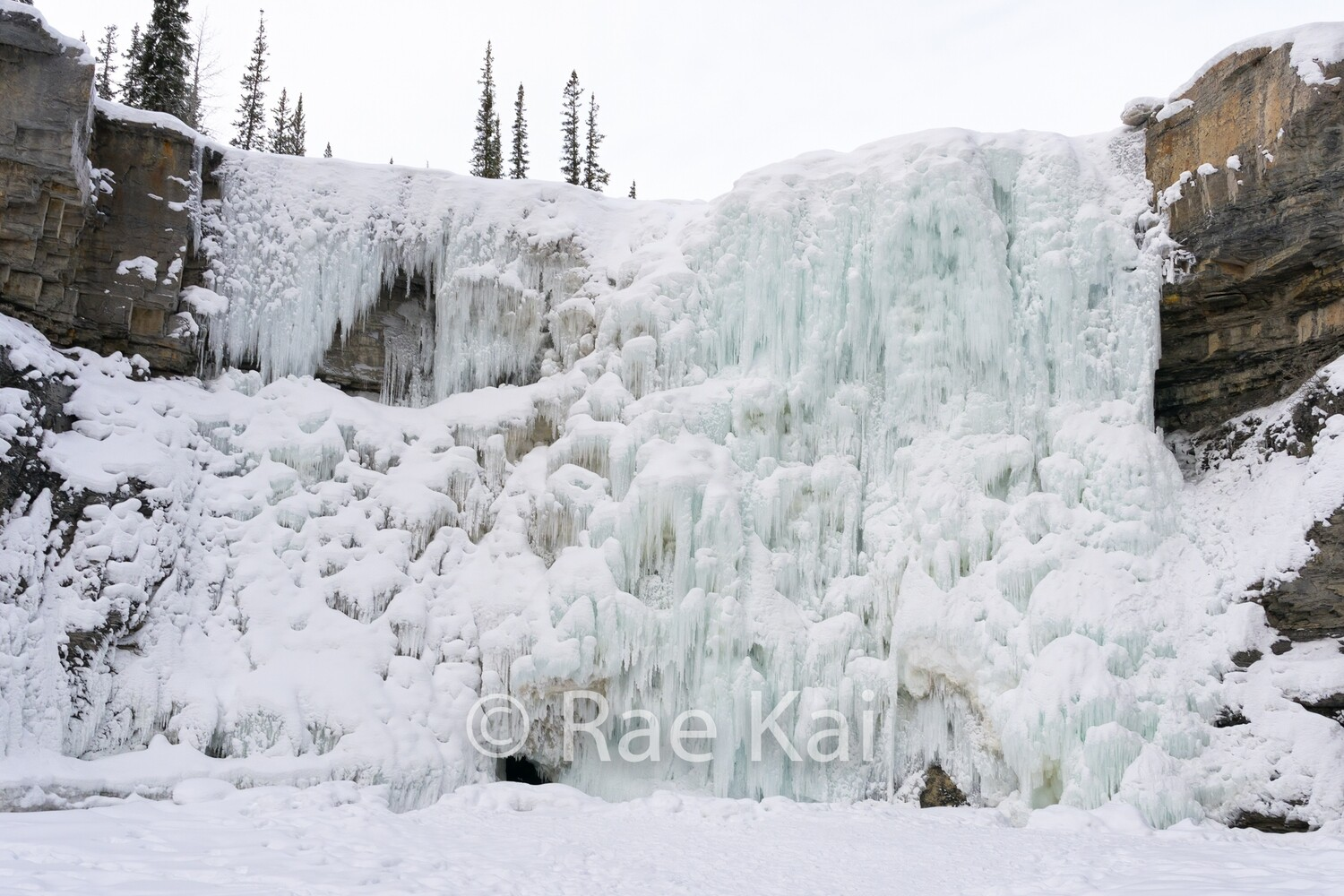 Frozen Crescent Falls-Traditional Photo
