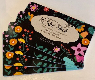 GIFT CARD FOR AAA's SHE SHED: Thank you for supporting your local businesses