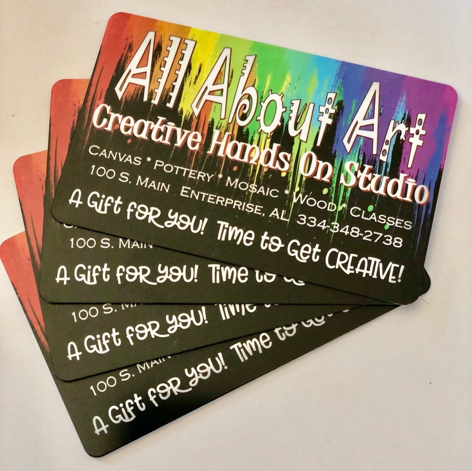 GIFT CARD FOR ALL ABOUT ART : Thank you for supporting your local businesses