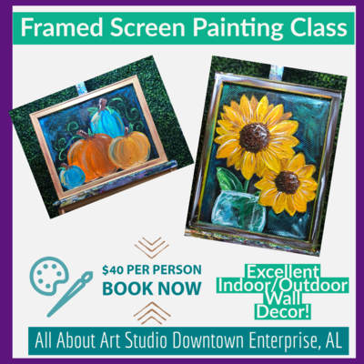 Framed Screen Painting Class