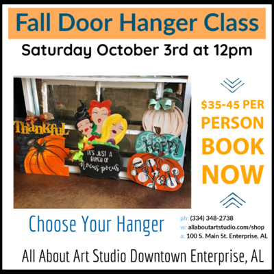 Door Hanger and Wood Painting Class