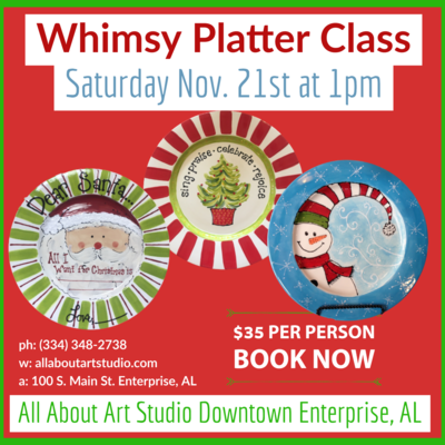 Platter Painting Workshops