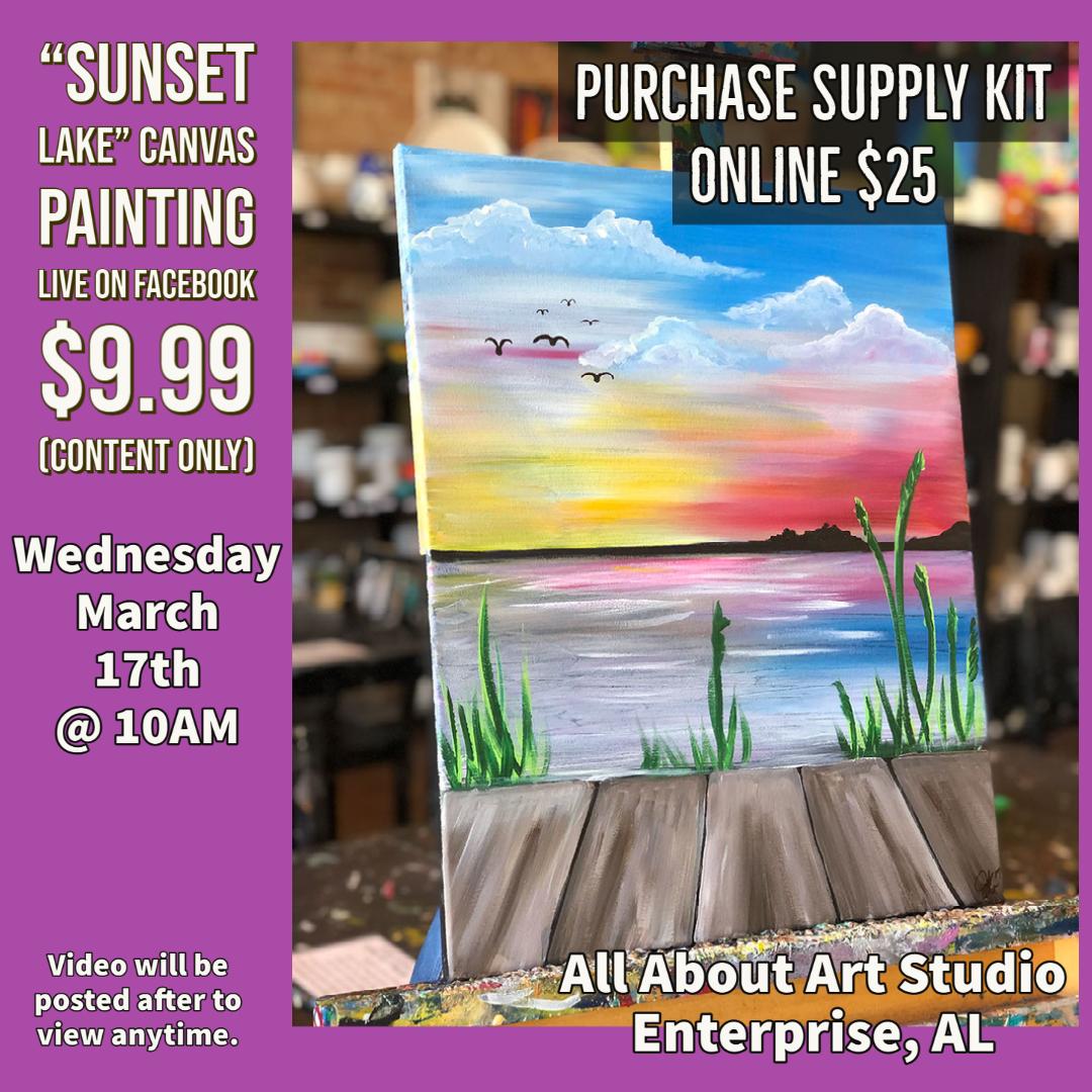 Virtual Art Class Supplies and Schedule