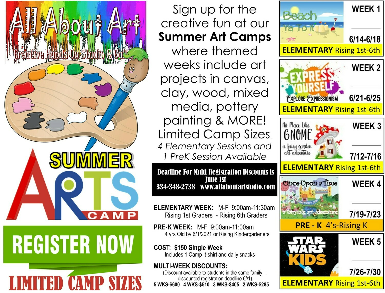 Summer Camp Registration (Pre-k-6th Graders)