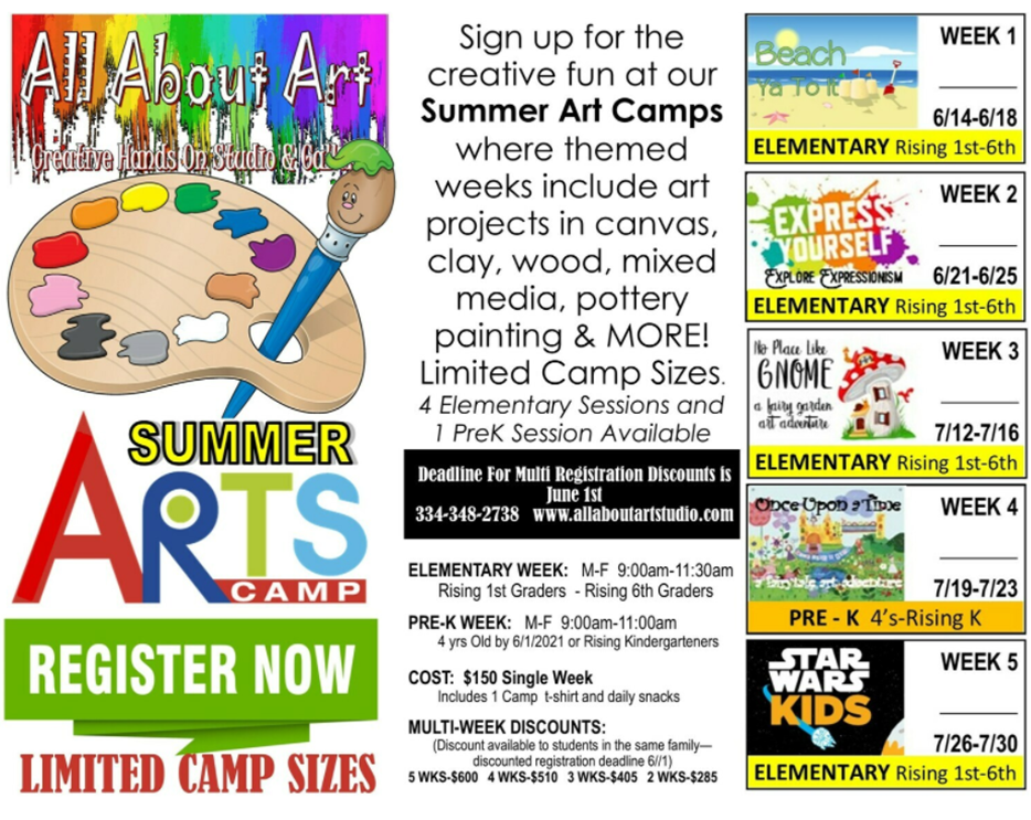 Summer Camp 2021 (PRE K- Elementary Age)