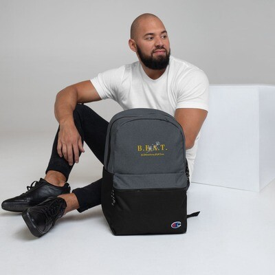 B.E.A.T. Embroidered Champion Backpack (White)