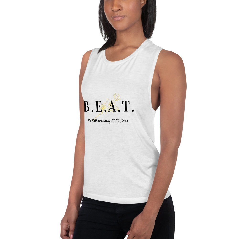 'Be Extraordinary At All Times' Ladies' Muscle Tank