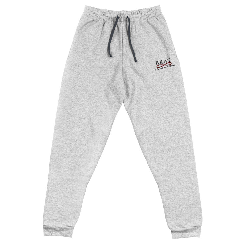 'Be Extraordinary At All Times' Women's Joggers Black/Burgundy Wave