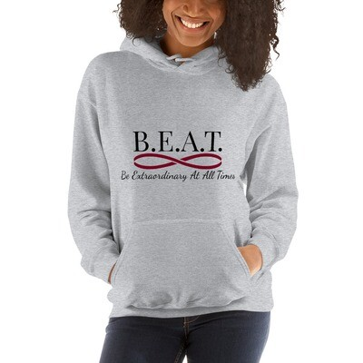 'Be Extraordinary At All Times' Women's Burgundy Infinity Hoodie