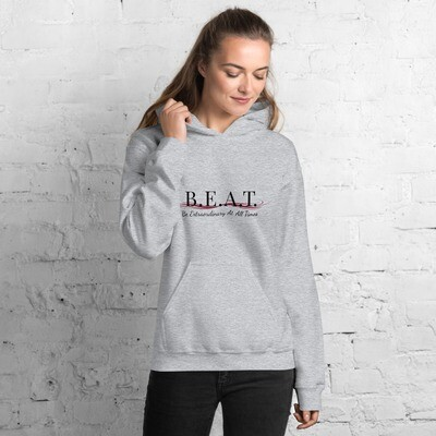 'Be Extraordinary At All Times' Women's Burgundy Wave Hoodie