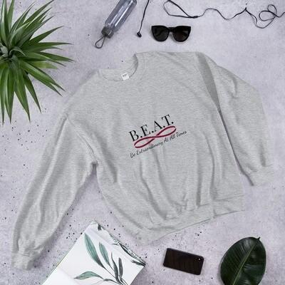 'Be Extraordinary At All Times' Women's Burgundy Infinity Sweatshirt