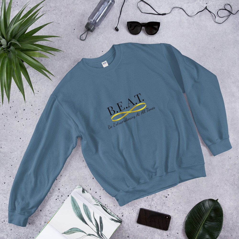 'Be Extraordinary At All Times' Women's Gold Infinity Sweatshirt