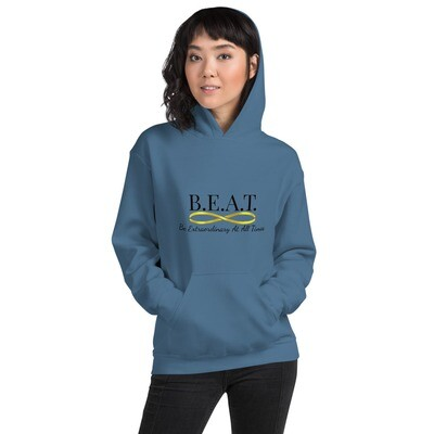 'Be Extraordinary At All Times' Women's Gold Infinity Hoodie