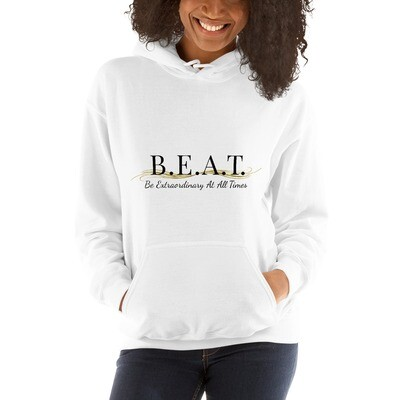 'Be Extraordinary At All Times' Gold Wave Hoodie