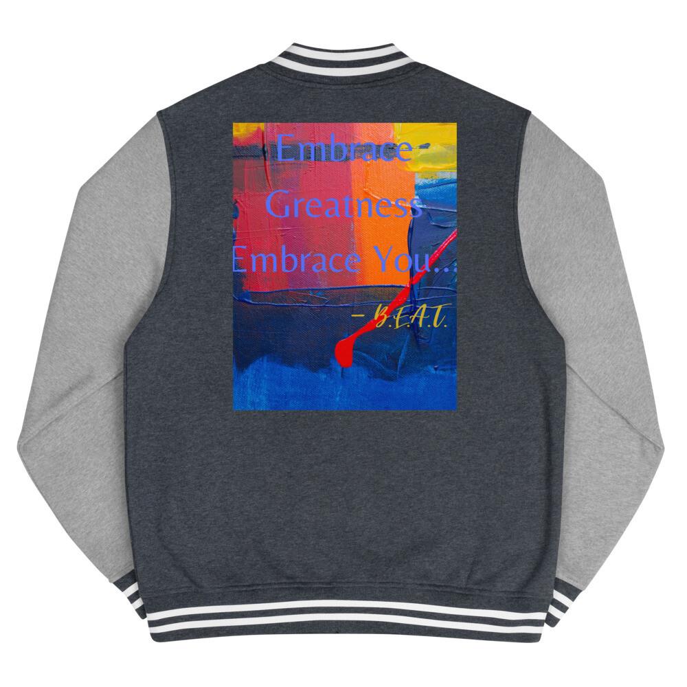 'Embrace You' B.E.A.T. Men's Letterman Jacket
