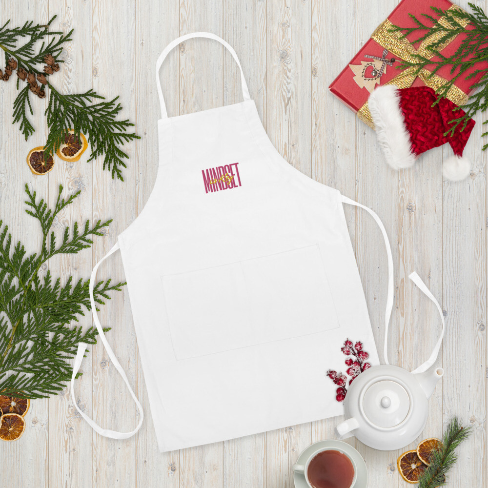 'Mindset is Key' Embroidered Apron