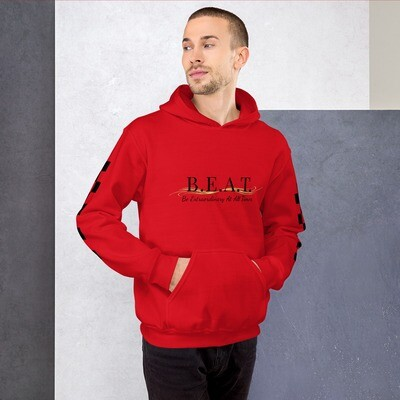 'Be Extraordinary At All Times' Gold Wave Men's Hoodie