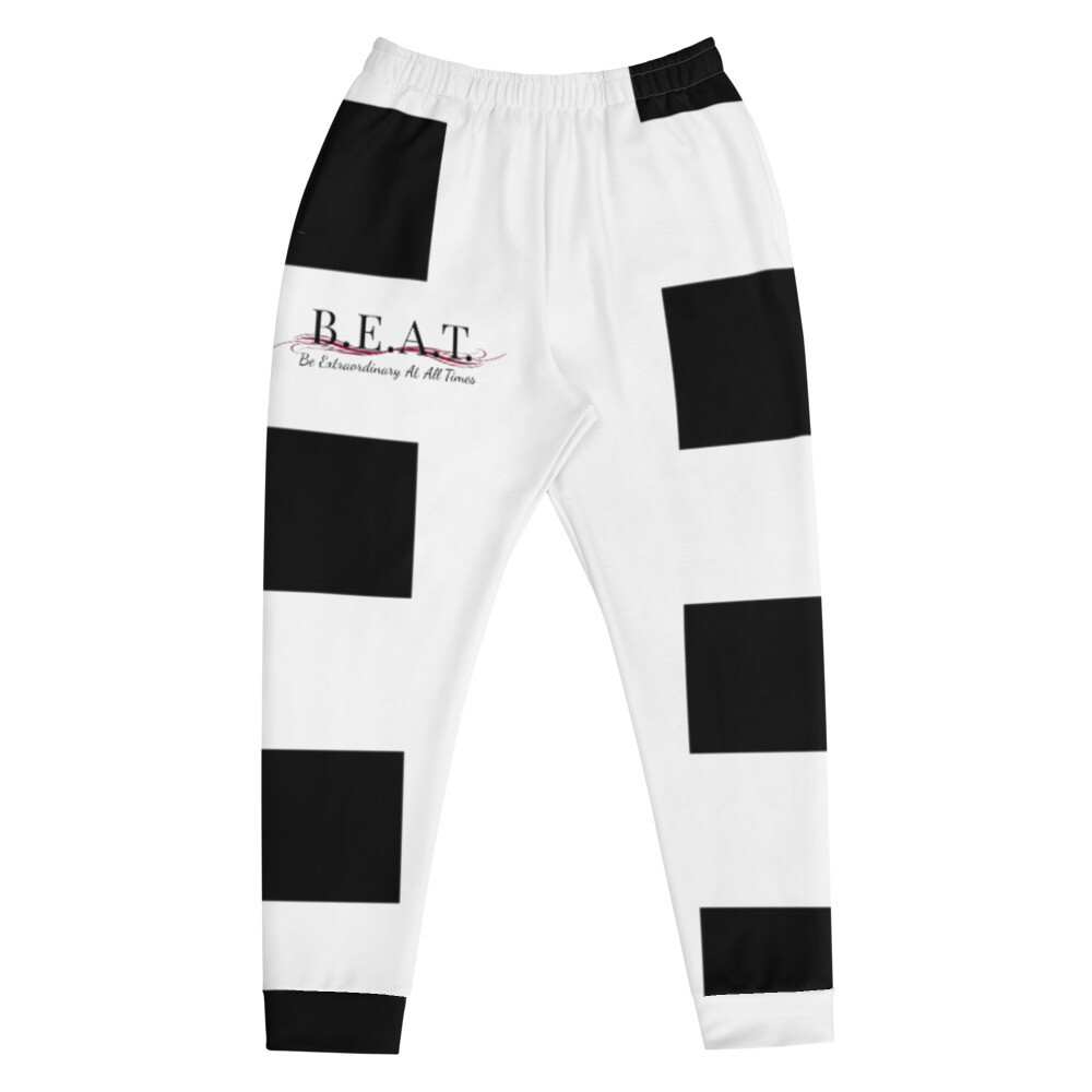 'Be Extraordinary At All Times' Burgundy Wave Men's Joggers