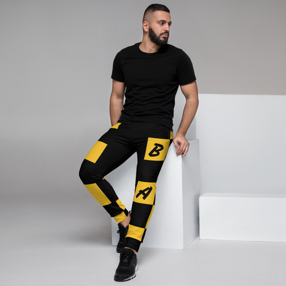 B.E.A.T. Gold Check Men's Joggers
