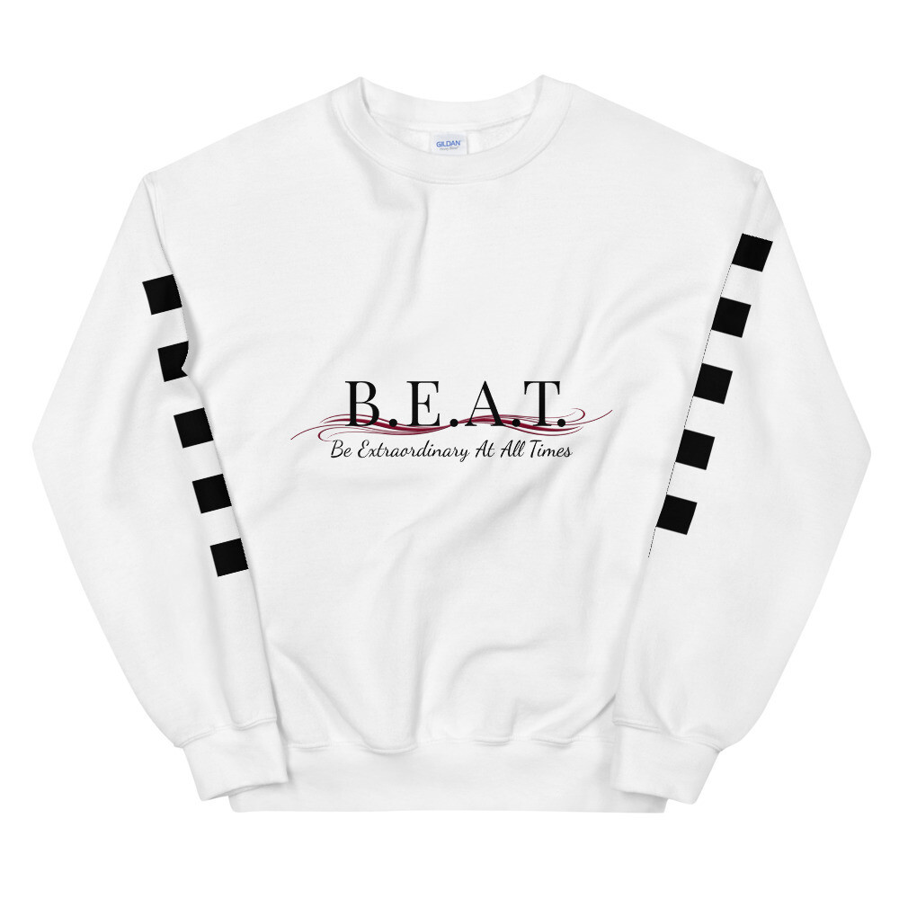 'Be Extraordinary At All Times' Burgundy Wave Men's Sweatshirt