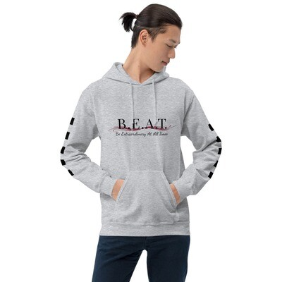 'Be Extraordinary At All Times' Burgundy Wave Men's Hoodie
